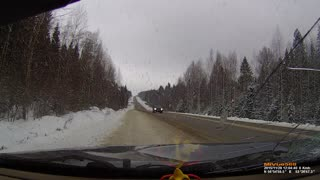 Snow Plow Accident - Video