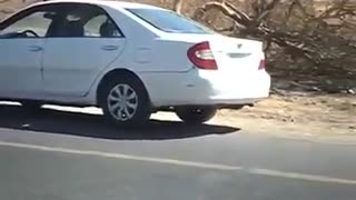 Hard to explain - Gravity Hill. Vehicle moves towards descending. - Video