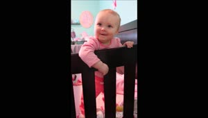 Baby's adorable reaction while playing peekaboo - Video