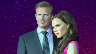 Victoria and David Beckham updated in wax - Video
