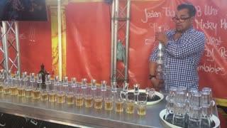 Mindblowing Bartender Pours 17 Jägerbombs Simultaneously Breaking World Record - Video