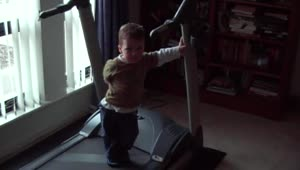 2-year-old's adorable exercise routine - Video