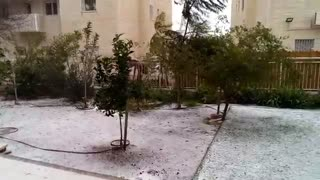 Snow fell in Jerusalem in 2015 - Video