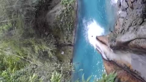 Nature Slide into blue water