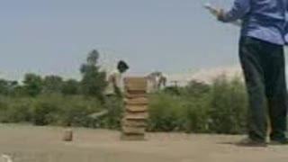 in Cricket match fight at the End  - Video