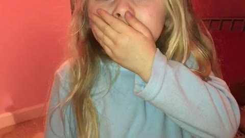 Little girl hurts her mouth REAL BAD