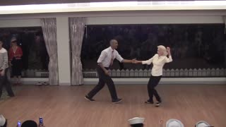 Men Line Up To Dance With This 90-Year-Old On Her Birthday - Video