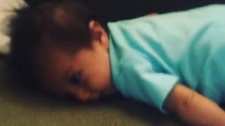 Collab copyright protection - baby blue onsie couch faceplant - Video