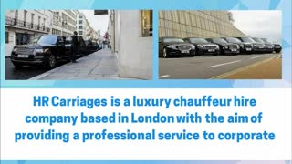 Luxury chauffeur London - Video