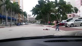 Helicopter in the Road