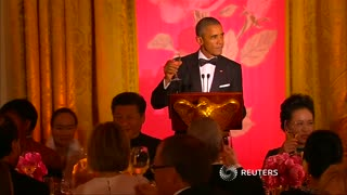 Zuckerberg attends White House state dinner - Video