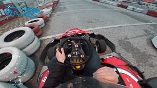 Beginner go-kart driver crashes at full speed into tire barrier! - Video