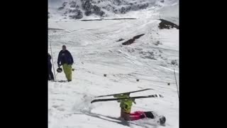 Collab copyright protection - skiing competition flip fail - Video