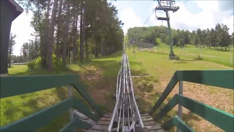 Wisp Mountain Coaster GoPro POV with no brakes
