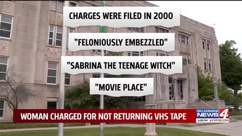 Oklahoma woman charged with felony for not returning VHS tape 21 years ago