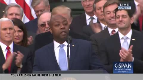 Tim Scott Remarks At Tax Reform Passage Event