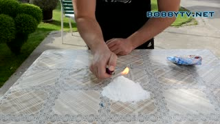 Is powdered sugar flammable? Watch this! - Video