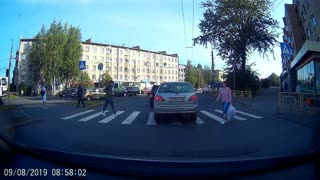 Using a Car to Cross the Street