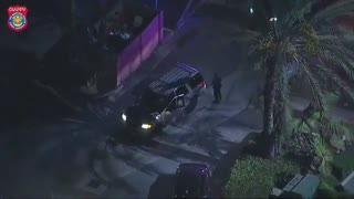 Drunk Driver Police Pursuit, Footbail & Chase in Lynwood California