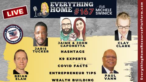 167 LIVE: Hashtags, K9 Experts, Covid Facts & TRUTH, Entrepreneur Tips, Wealth Building *CLAY CLARK*