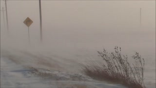 Fairbank, Iowa November Ground Blizzard - Video