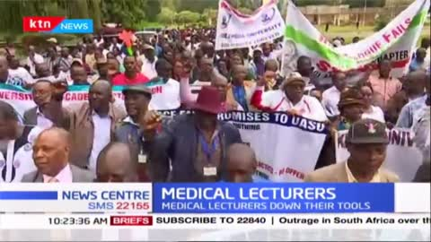 UON medical lecturers down their tools over unpaid clinical allowances from the giant institution