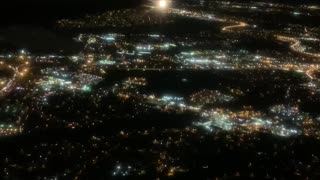 Night Lights of Nashville from the Sky