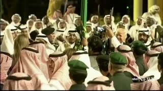ABC News Politics - Pres. Trump dances along with boisterous welcome ceremony in Saudi Arabia