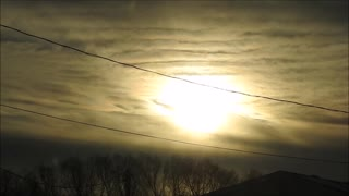 High Speed Sunrise Jan 11th  - Video