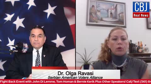 CBJ Real News Podcast Show (Part 156): Dr. Olga Ravasi, founder of Serbian American Voters Alliance
