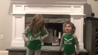 Cutest Eagles Fight song Ever!  - Video