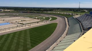 Cars Racing Around Kansas Speedway