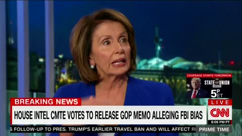 WATCH: Nancy Pelosi Has a Meltdown on CNN and Calls the Memo 'False' Repeatedly 1