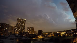 Time lapse: Lightning storm over Chicago