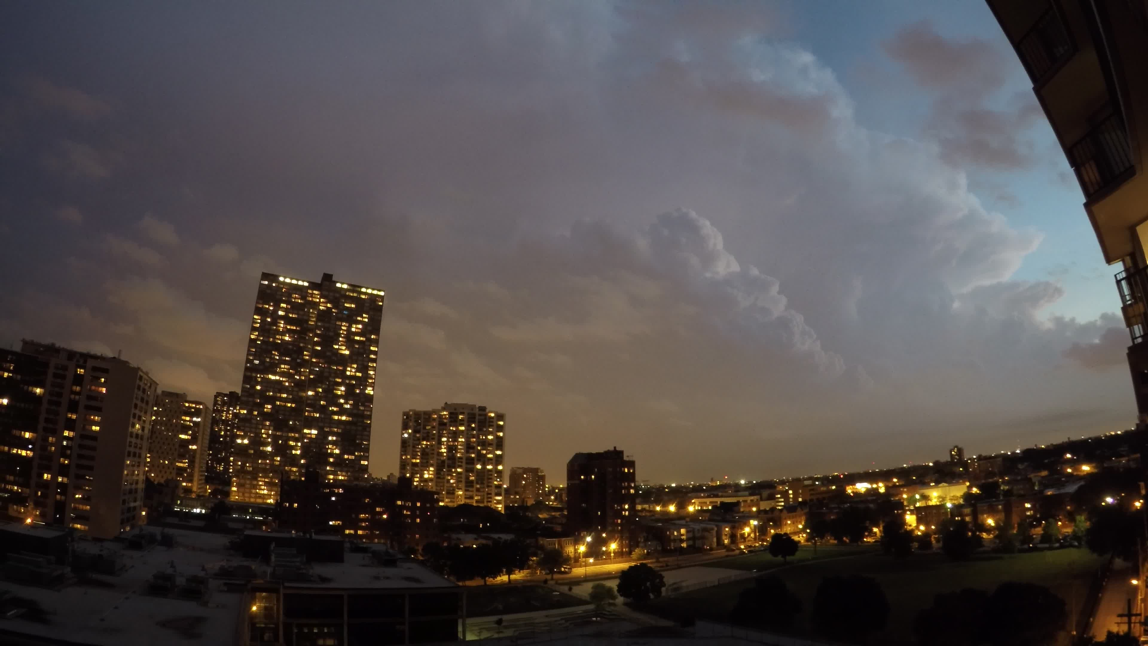 Time Lapse Lightning Storm Over Chicago