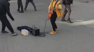 Street Performing Kid Shreds Classic 'Metallica' Song On Guitar - Video