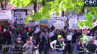 #MarchAgainstSharia Protesters Face Off With Liberals And AntiFa In Seattle Washington