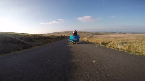 Daredevils reach extreme speeds on street sledge