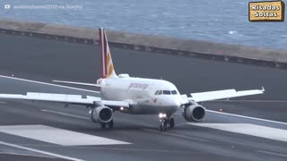 Storms make it difficult to land at Madeira airport