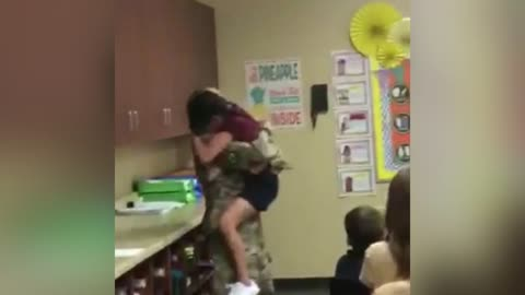 Soldier Mom Gives Daughter A Sweet Surprise