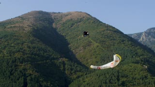 Acro Paraglider Shows Off Infinity Tumbling