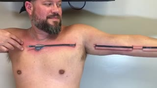 This 3D Arrow Tattoo Looks Incredibly Realistic - Video