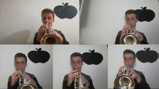 5 trumpet multi-track cover of 'Thomas The Tank Engine' theme song - Video