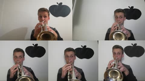 5 trumpet multi-track cover of 'Thomas The Tank Engine' theme song
