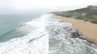 Durban Beach Drone view - Video