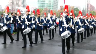 Cadet parade in Santiago, chile