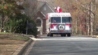 Reidville Fire Department Spreading Some Christmas Cheer