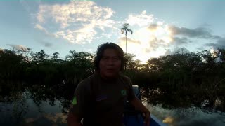 Amazonian guy making voices of birds - Video