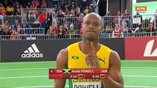 3X World Record Holder Asafa Powell Breaks Jamaican 60m Indoor Record - Video