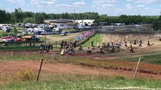 Mayhem at Motorcycle Competition